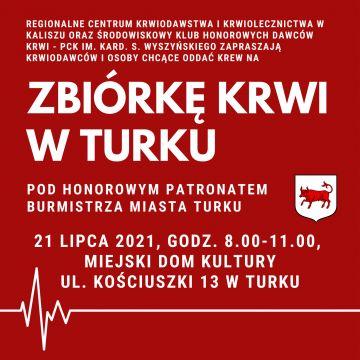 Hej, Krwiodawcy! Nadchodzi kolejna akcja poboru krwi w Turku