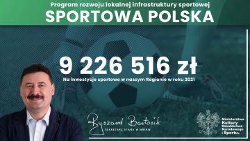 Nowe środki na inwestycje sportowe w naszym...