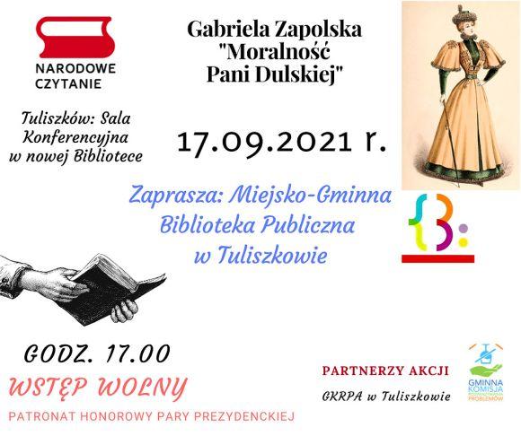 Narodowe Czytanie 2021 w Tuliszkowie
