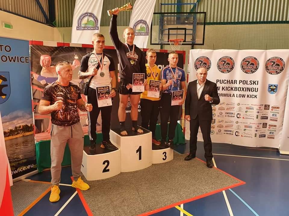 Striker na Pucharze Polski w kickboxingu. Szymon Kałużny Najlepszym Zawodnikiem turnieju. - fot. Striker Turek
