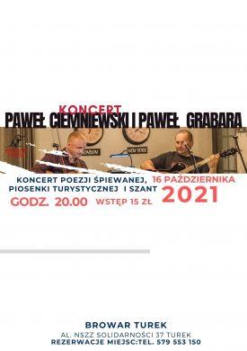 Koncert Paweł Ciemniewski i Paweł Grabara w Browarze Turek
