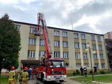 Ćwiczenia ewakuacyjne w DPS Skęczniew