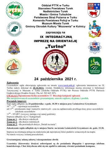 IX Integracyjna Impreza na Orientację TURino 2021